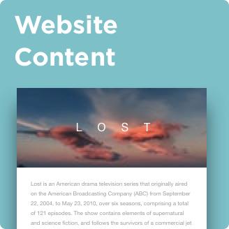 webiste content